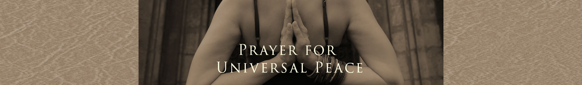 Prayer for Universal Peace