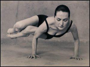 Sharon Gannon in side crow