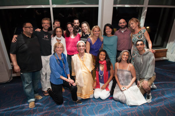 NYC Jivamukti Teachers with Ingrid Newkirk and David Life