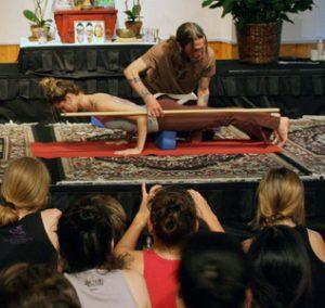 David Life teaching chaturanga dandasana