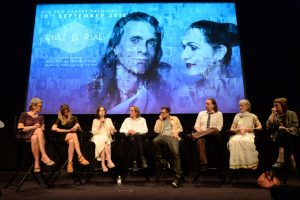 A panel of Jivamukti Yoga luminaries answers questions after the film