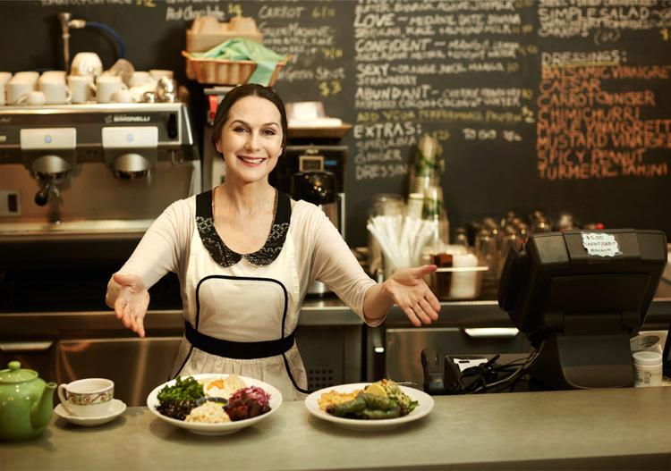 Sharon Gannon at Jivamuktea Café