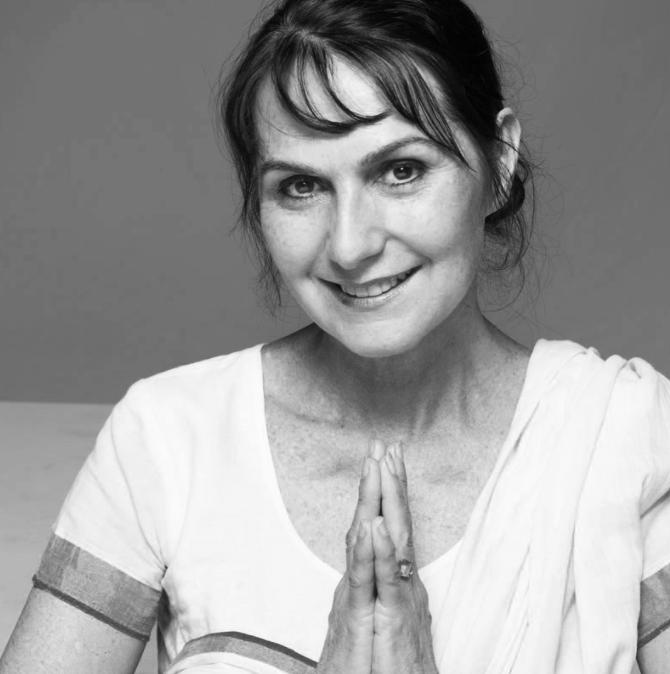 Jivamukti founder Sharon Gannon